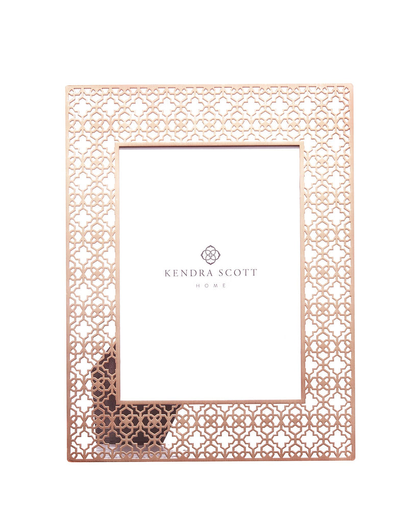 Kendra Scott Rose Gold Filigree Frame