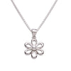 Sterling Silver Daisy Necklace with White Pearl