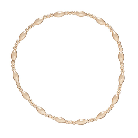 Harmony Sincerity Pattern 2mm Bead Bracelet in Gold