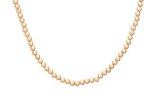 Classic Gold Filled Bead Necklace | 3mm