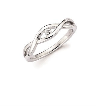 Diva Diamond Infinity Sterling Silver Diamond Ring