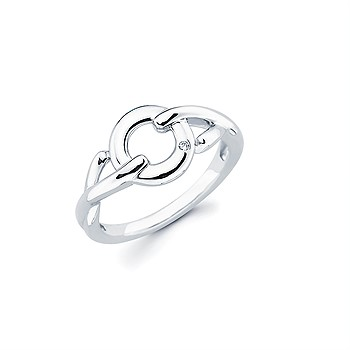 Sterling Silver X&O Ring
