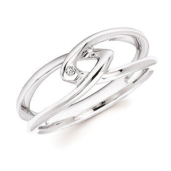 Sterling Silver Intertwined Ring