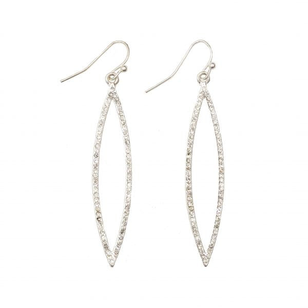 Pave CZ Marquise Drop Earrings