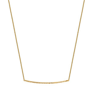 Diamond Cut Bar Necklace