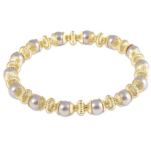 Loyalty 6mm Pearl & Gold Filled Bead Bracelet