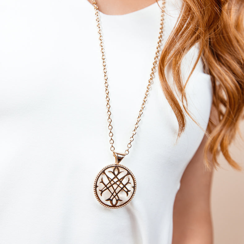 Logo Pendant Necklace