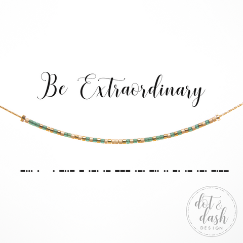 Be Extraordinary | Morse Code Necklace