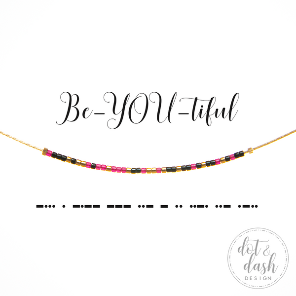 Be-YOU-tiful | Morse Code Necklace