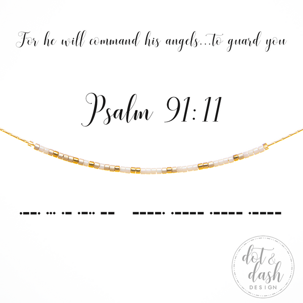 Psalm 91:11 | Morse Code Necklace