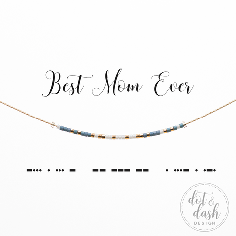 Best Mom Ever | Morse Code Necklace