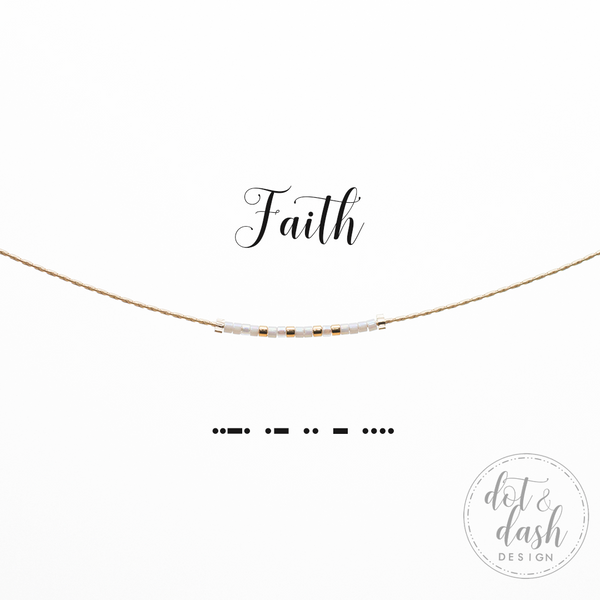 Faith | Morse Code Necklace