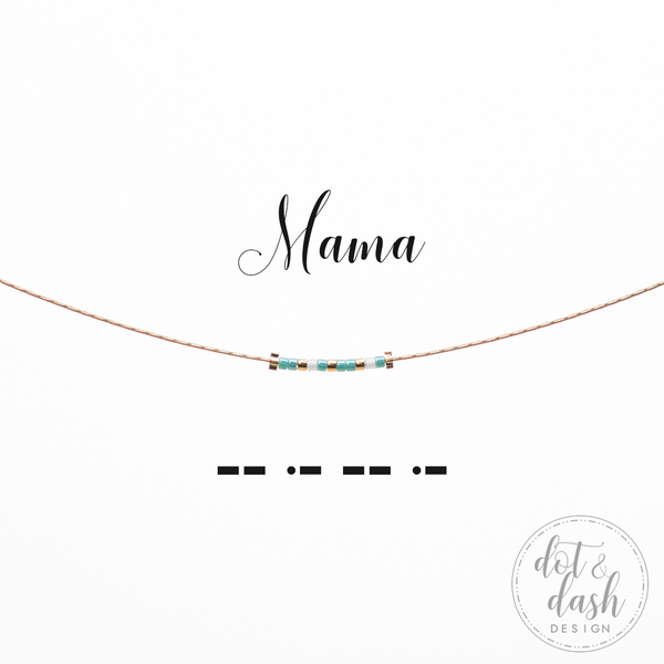 Mama | Morse Code Necklace
