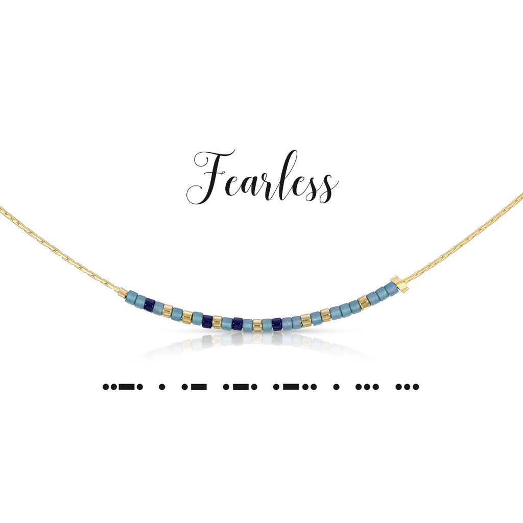 Fearless | Morse Code Necklace