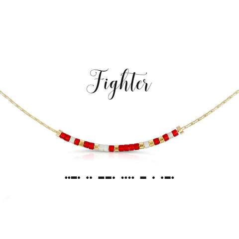 Fighter | Morse Code Necklace