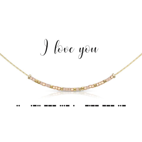 I Love You | Morse Code Necklace