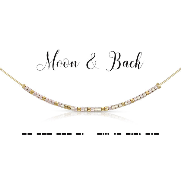 Moon and Back | Morse Code Necklace