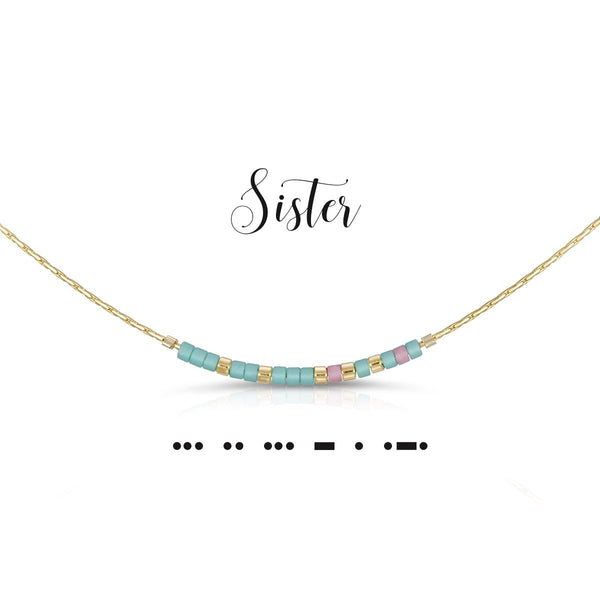 Sister | Morse Code Necklace