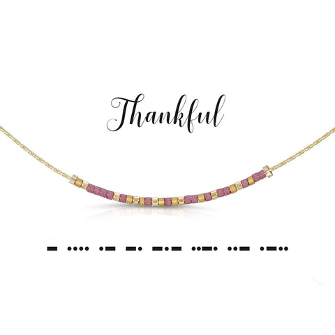 Thankful | Morse Code Necklace
