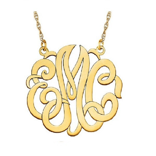 Large Monogram Necklace | 40MM