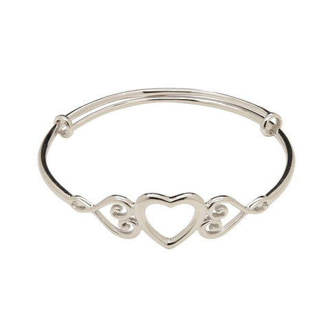 Adjustable Heart Bangle