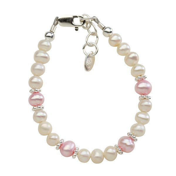 Addie Bracelet - Pink and White Pearls