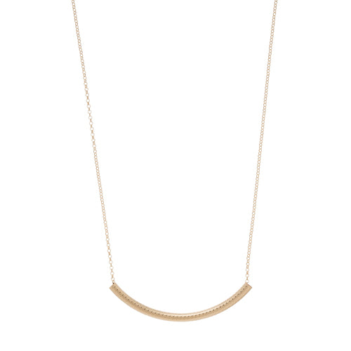 Bliss Bar Textured Necklace in Gold
