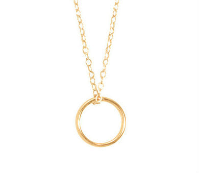 Gold Halo Charm Necklace