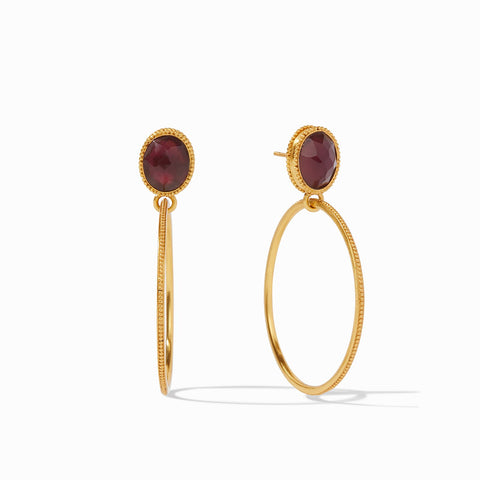 Verona Statement Earrings in Iridescent Bordeaux
