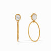 Verona Statement Earrings in Iridescent Clear Crystal