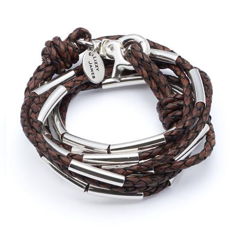 Zoey Wrap Bracelet in Natural Mocha