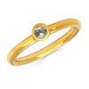 Bezel Set Birthstone Ring | 10kt Gold