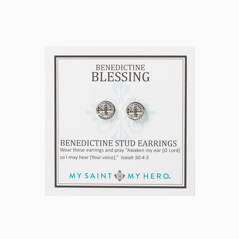 Benedictine Blessing Stud Earrings