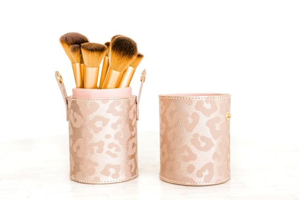 Leopard Brush Holder
