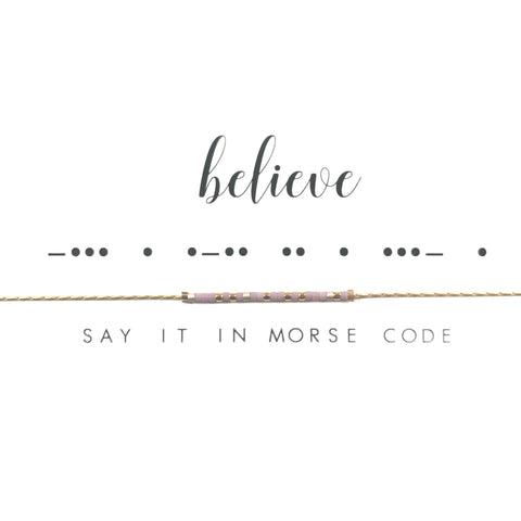 Believe | Morse Code Necklace