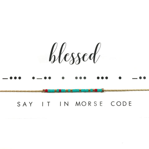 Blessed | Morse Code Necklace