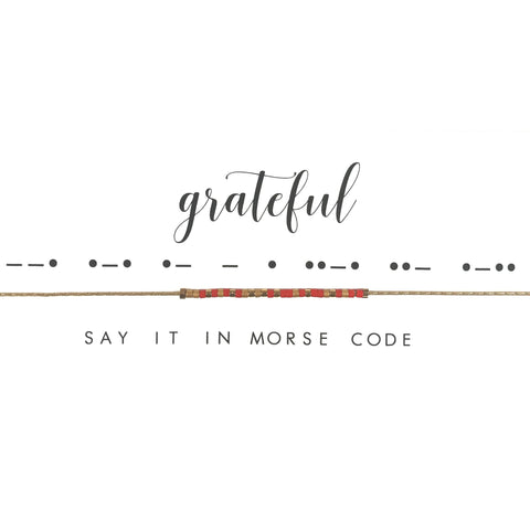Grateful | Morse Code Necklace