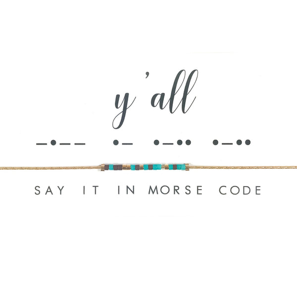 Y'all | Morse Code Necklace