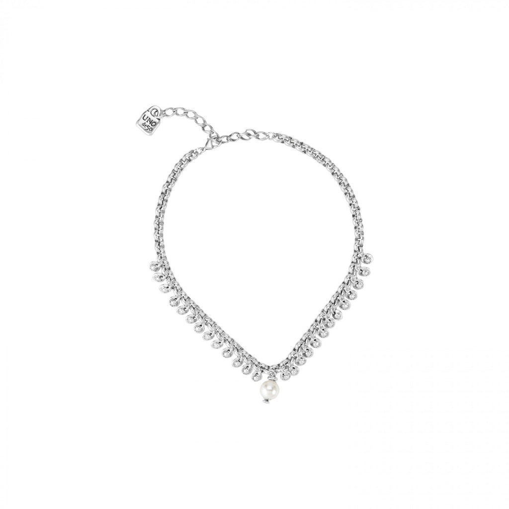 Texcoco Silver & Pearl Necklace