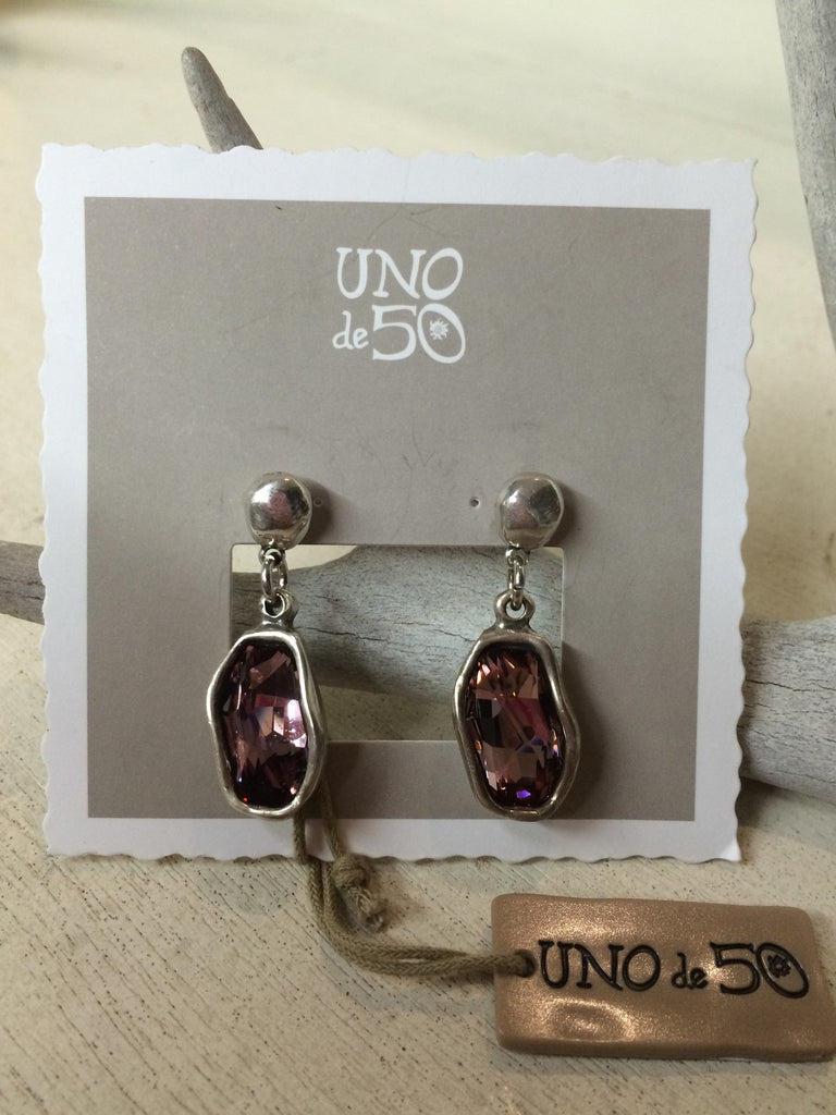 On Tip Toes Earrings, Purple