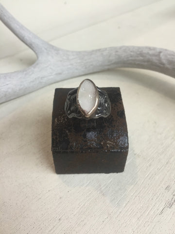 Clear Drusy Ring