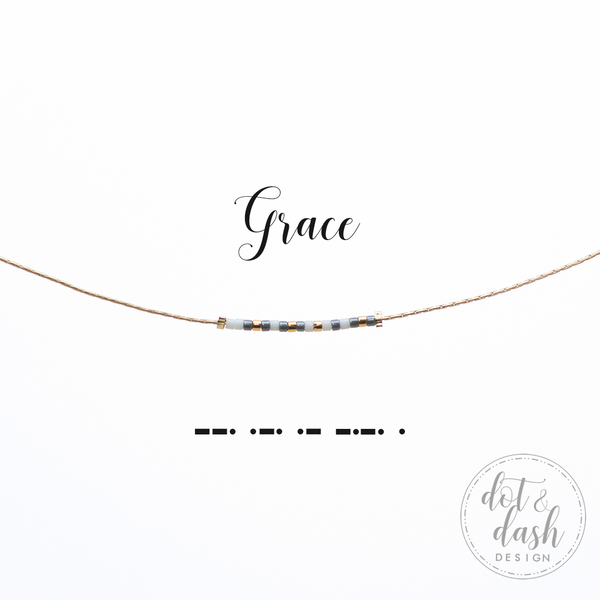 Grace | Morse Code Necklace
