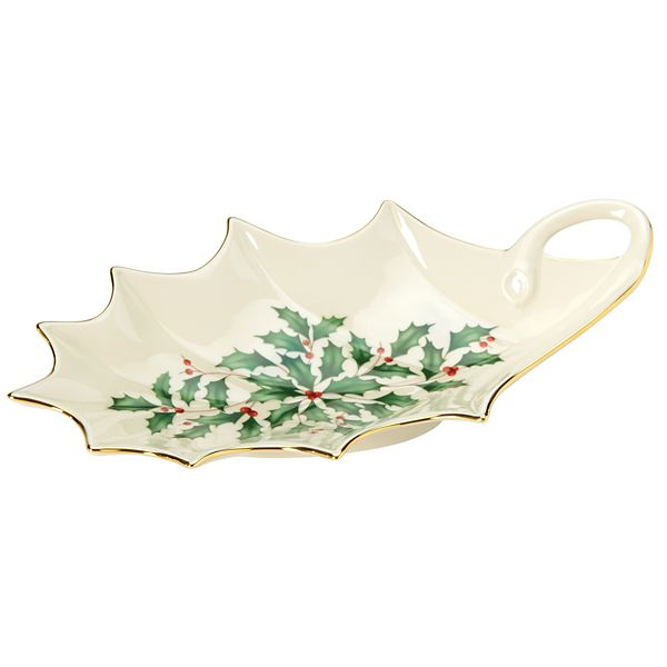 Holiday Archive Holly Leaf Dish