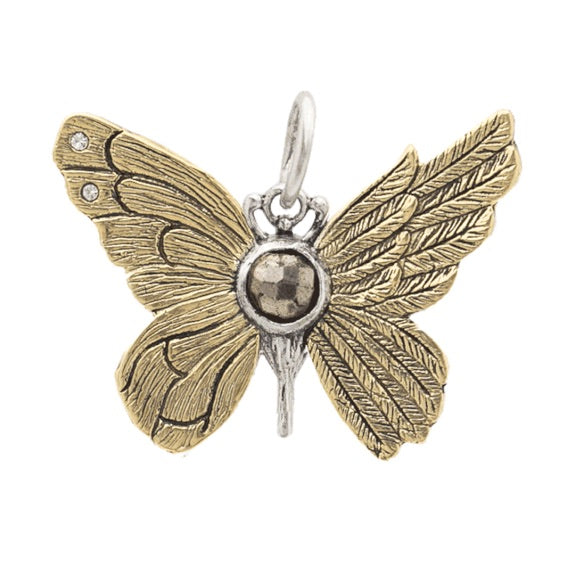 Ascension Butterfly Pendant - Pyrite