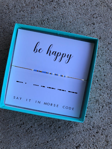 Be Happy | Morse Code Bracelet