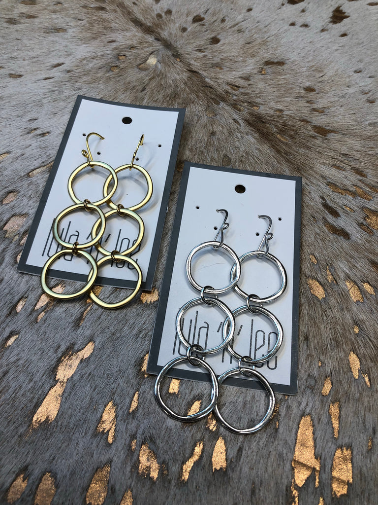 Triple Loop Dangle Earrings