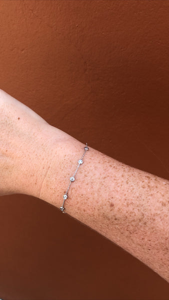 Diamond by the Yard Bracelet | 14kt White Gold | .75 TCW