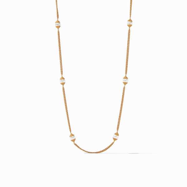 Calypso Pearl Station Necklace