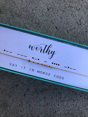 Worthy | Morse Code Necklace