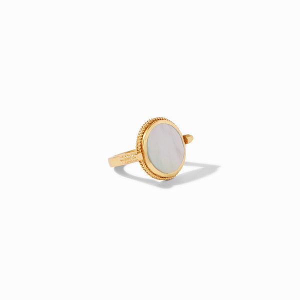 Coin Revolving Ring in Mother of Pearl